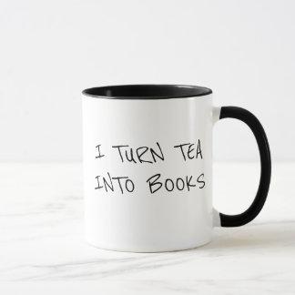 Mug Je transforme le thé en livres