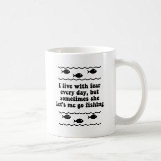 Mug Je vis avec crainte chaque jour
