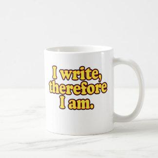 Mug J'écris, par conséquent je suis