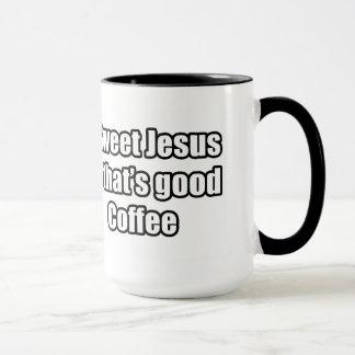 Mug Jésus doux qui est bon café