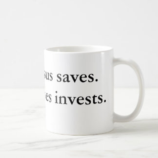 Mug Jésus économise. Moïse investit
