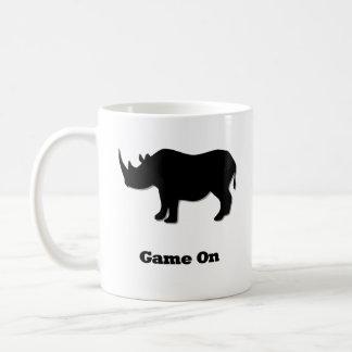 Mug Jeu de rhinocéros sur le noir