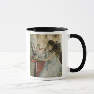 Mug Jeune femme saupoudrant son visage, 1877