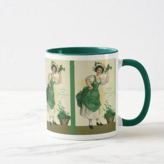 Mug Jeune fille vintage du jour de St Patrick,