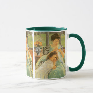 Mug Jeune mère cousant par Mary Cassatt, art vintage
