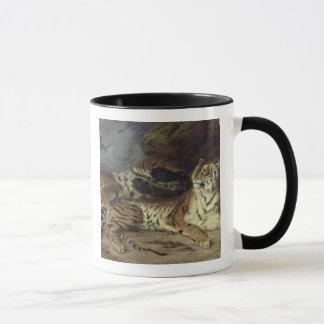 Mug Jeune tigre jouant avec sa mère, 1830 (huile