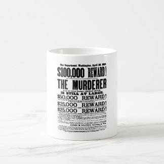 Mug John Wilkes Booth a voulu l'affiche