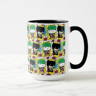Mug Joker de Chibi et motif de carte de jeu de Batman