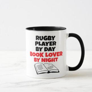 Mug Joueur de rugby d'amoureux des livres