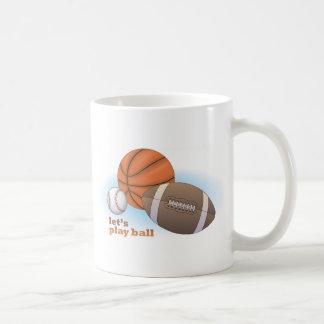 Mug Jouons la boule : base-ball, basket-ball et