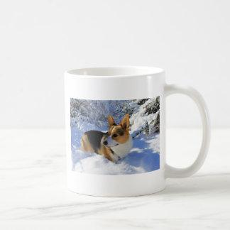 Mug Jour de neige de corgi de Gallois