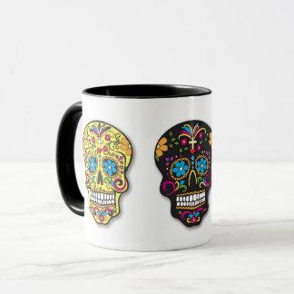 Mug Jour multicolore de crânes de sucre des morts