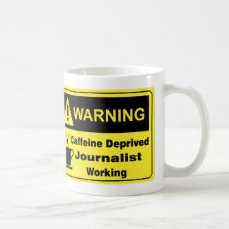 Mug Journaliste d'avertissement de caféine