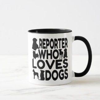 Mug Journaliste qui aime des chiens