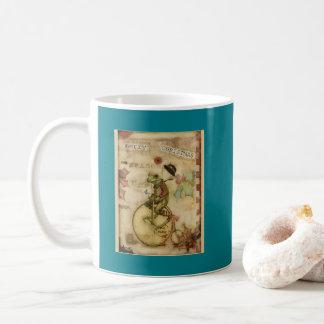 Mug Joyeuse petite grenouille vintage de Noël sur la