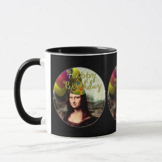 Mug Joyeux anniversaire Mona Lisa