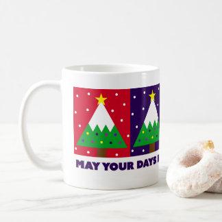Mug Joyeux et lumineux arbre de Noël génial