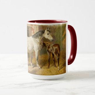 Mug Jument vintage et poulain de pur sang
