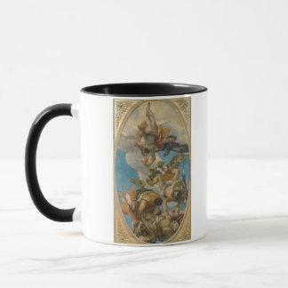 Mug Jupiter heurtant en bas des vices (huile sur la