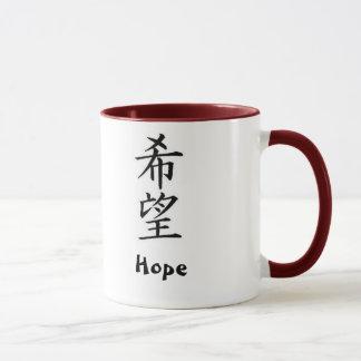 Mug Kanji japonais : Espoir
