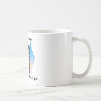 Mug Kelpie noir australien avec la carte