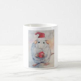 Mug Kerst le souris caressante avec le sapin de Noël