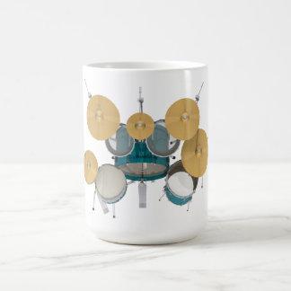 Mug Kit de tambour d'Aqua/turquoise :