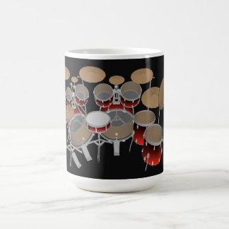 Mug Kit de tambour de 10 morceaux : Gradient rouge :