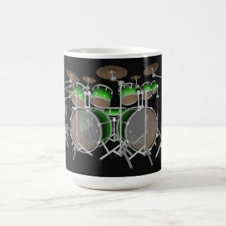 Mug Kit de tambour de 10 morceaux : Gradient vert :