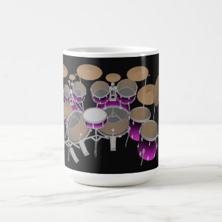 Mug Kit de tambour de 10 morceaux : Gradient violet :