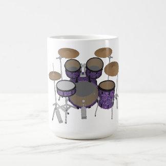 Mug Kit de tambour de 5 morceaux : Finition violette