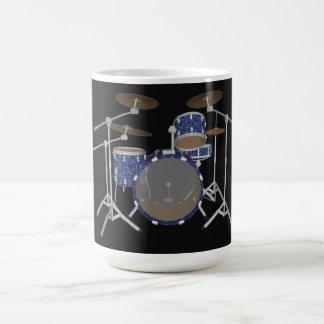 Mug Kit de tambour de jazz : Tambours bleus faits sur