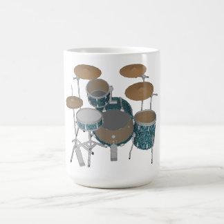 Mug Kit de tambour de jazz : Tambours verts faits sur