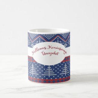 Mug Knit hongrois de chandail de salutation de Noël
