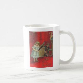 Mug Krampus jouant avec la fille