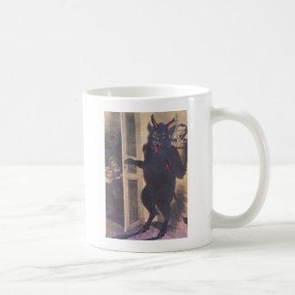 Mug Krampus recueillant la famille