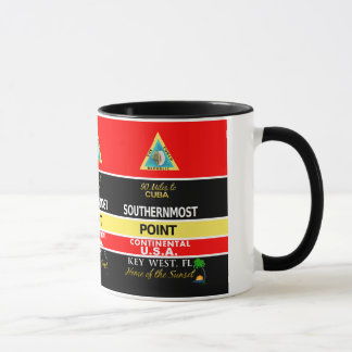 Mug La balise Key West de point la plus la plus au sud