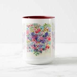 Mug La beauté est partout florale