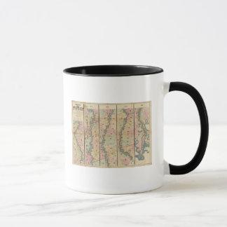 Mug La carte de Lloyd du fleuve Mississippi inférieur