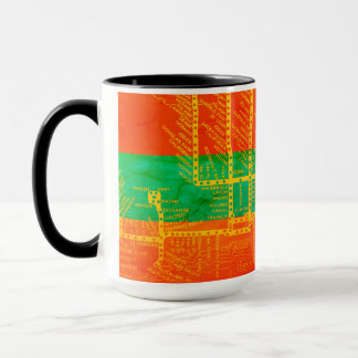 Mug La carte de souterrain de Chicago avec le train