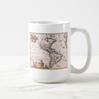 Mug La carte de Visscher du nouveau monde