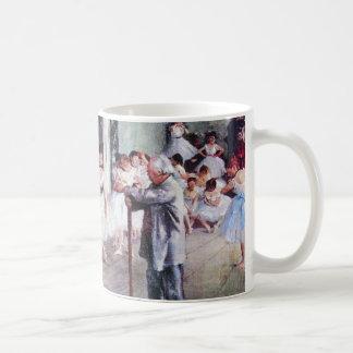 Mug La classe de danse par Edgar Degas, art vintage de