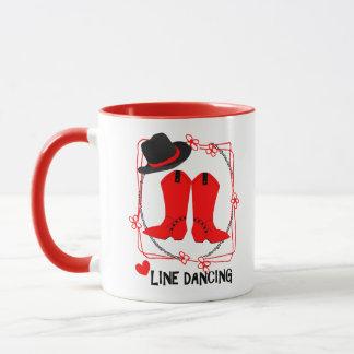 Mug La cow-girl initialise la ligne mignonne graphique