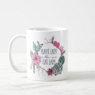 Mug La dame de plante est la nouvelle dame de chat