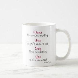 Mug La danse, amour, chantent, vivant…