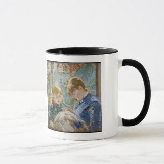 Mug La fille de l'artiste, Julie, avec sa bonne