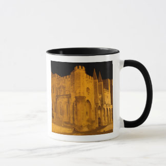 Mug La France, Avignon, Provence, palais papal la nuit