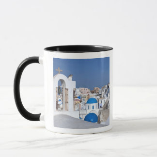 Mug La Grèce, Santorini. Tour de Bell et dômes bleus