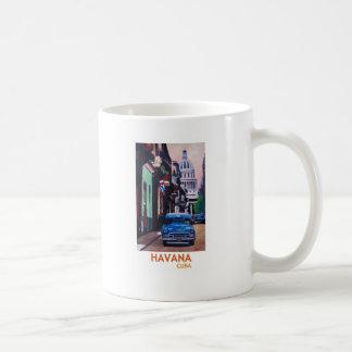 Mug La Havane au Cuba - EL Capitolo avec l'oldtimer