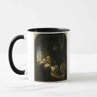 Mug La leçon de bible, ou Anne et Tobias (huile sur le